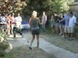 Golf Chick Handles Wood Exceptionally Well