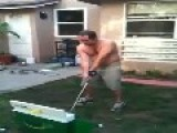 Golf Ball Hits Man In The Nuts