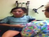 Girl Is Suffering From Injection In Arm