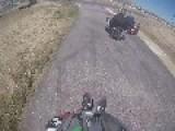 Go Kart Racer Tumbles On Track