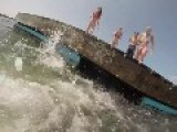 Girl Slips And Falls Off Dock