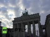 Germany: DRONE Captures Snow-covered Soviet War Memorial In Berlin