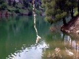 Guy Catches A Snake With Fish Fod While Snake Hunting Fish
