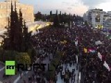 Greece: DRONE Footage Shows Mass Anti-austerity Rally In Athens