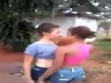 Girl Knocked Out With A Stick In A Fight