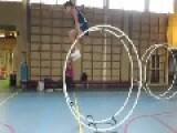 Girl Rolls Across Floor In Rhonrad