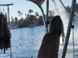 Guy Wipes Out On Water Jet Pack