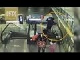 Grandma Loses Footing, Drops Infant From Moving Escalator