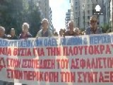 Greek Pensioners Protest Pension Cuts