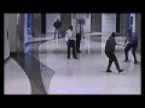 Guy Chases Security Guard With Knife