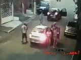Gang Stealing Cars In Brazil