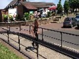 Guy Shows Off Impressive Unicycle Stunts