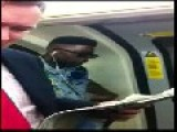 Guy Give It His All As He Sings On The Train