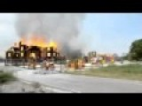 Gorlovka Annunciation Church Burned After Hitting Bombs