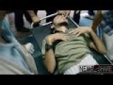 Graphic Wounded Gazans Entering Hospital