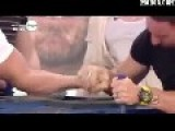 Guy Breaks His Arm While Arm Wrestling