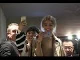Gigi Hadid Looks Stunning As She Reveals A Gold Ensemble In Milan