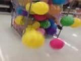 Girl Falls Into Balls