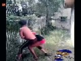 GAY GUYS GETTING IT ON IN THE BACKYARD SISSY FIGHT
