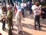 Grandpa Dancing Like A Mad Man!