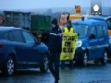 Greenpeace Activists Block Truck Convoy From French Nuclear Plant
