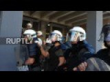 Greece: Police And Protesters Clash Outside Courthouse In Thessaloniki