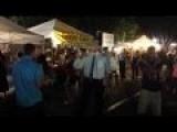 Guy Dancing At Market Night In Redlands Ca