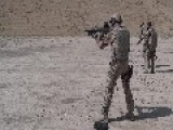 German Soldier In Afghanistan Shooting A G36 With A Serious Remark About Vertical Filming HD