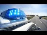 German Police Respond To Accident On Autobahn
