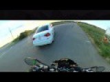 Getting Hit By A Car On My Motorcycle, 360 Degree View
