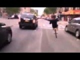 Guy Doing Wheelies On Bike Has Death Wish