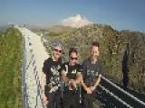 Group Of Friends Enjoy Motorbike Trip On Irish Coast