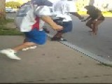 Guy Knocks Out A Girl, Gets Hit With A Baseball Bat But Doesn't Give A Fuk