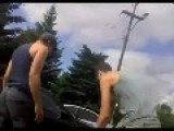 Guys Shake Hands After Road Rage Fight