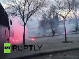 Greece: Olympiakos PAOK Fans Clash Ahead Of Game