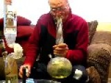 Grandpa Hitting The Bong