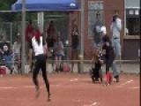 Girl Makes Incredible Home Run Saving Catch