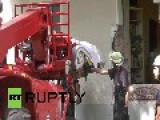 Germany: Watch 300kg Woman Be Lifted By Crane From Berlin Apartment