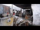 Greece: Souda Refugee Camp Left In Ruins After Fire Rips Through Site
