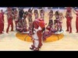 Guy Comes Out Of Benny The Bull Costume To Propose To Bulls Dancer