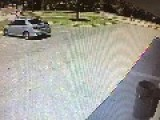 Guy Gets Hit By Car That Was Illegally Cutting Thru Parking Lot
