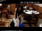 Girls In Thong Fighting In Soy Sauce At A Chinese Restaurant