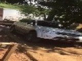 Guy Destroys His Brand New SUV In A River