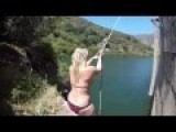 Girl Fails At Rope Swing