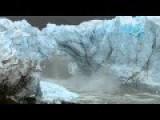 Glacier Ice Bridge Collapse