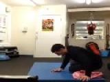 Guy Pops Exercise Ball