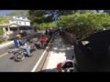 Group Ride Motorcycle Crash With Intercom Audio