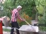 Garden Worker And His One Stringed Spade-Violin