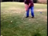 Guy Gets Hit In The Nuts By Golf Ball