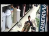 Guy Attempts To Hit A Backflip Off A Walmart Shelf, Nearly Snaps His Neck!!!
